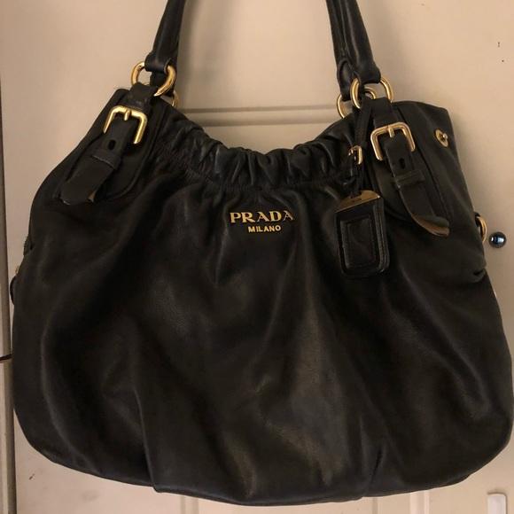 508258e76186 PRADA MILANO Calfskin Leather Handbag. M_5ad9345845b30c9c24b7985c